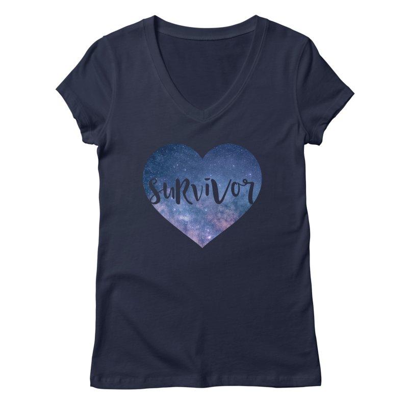 Survivor Women's Regular V-Neck by True Words's Artist Shop