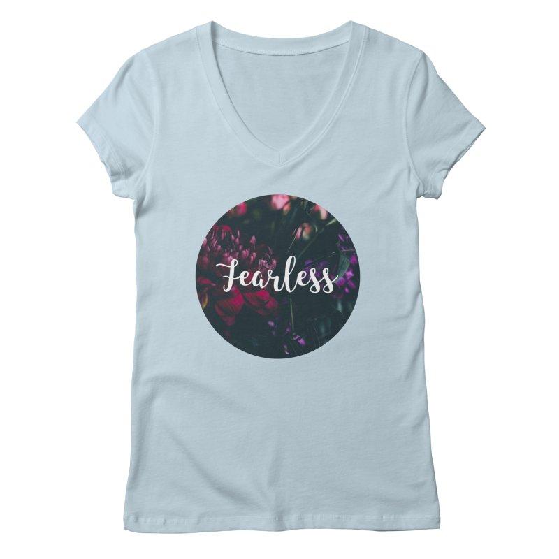 Fearless Women's Regular V-Neck by True Words's Artist Shop