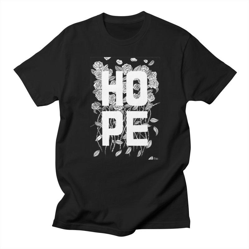 Hope in Men's Regular T-Shirt Black by True Words's Artist Shop