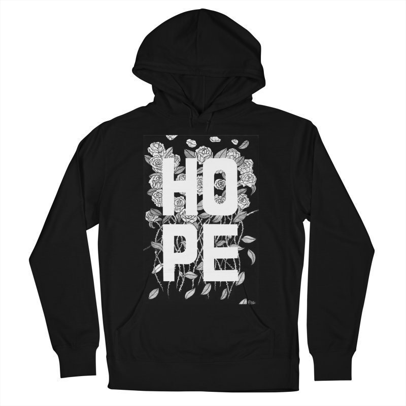 Hope Men's French Terry Pullover Hoody by True Words's Artist Shop