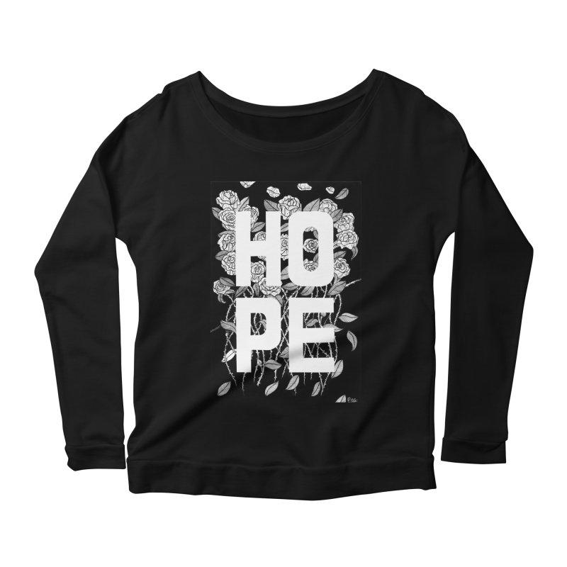 Hope Women's Scoop Neck Longsleeve T-Shirt by True Words's Artist Shop