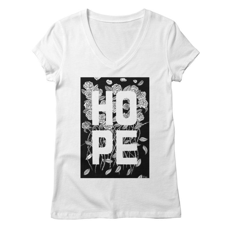 Hope Women's Regular V-Neck by True Words's Artist Shop