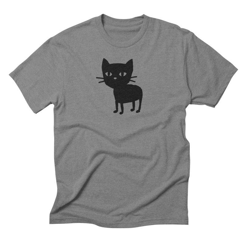 Very Serious Kitten Men's T-Shirt by TRUFFLEPIG