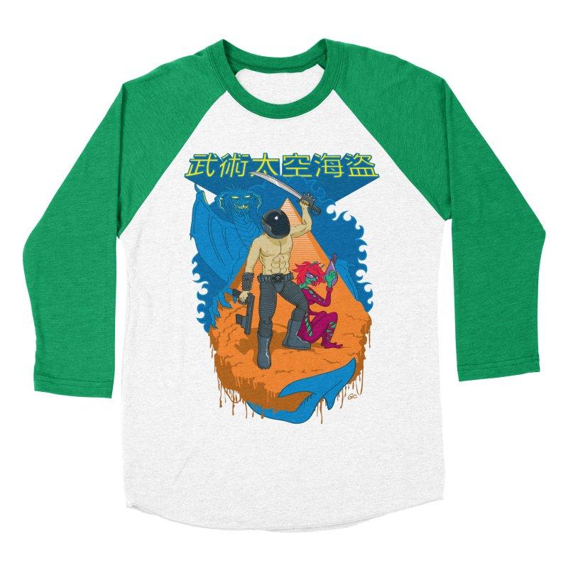 Wushu Space Pirates™ Men's Baseball Triblend T-Shirt by Trulyfunky Shop @ Threadless!