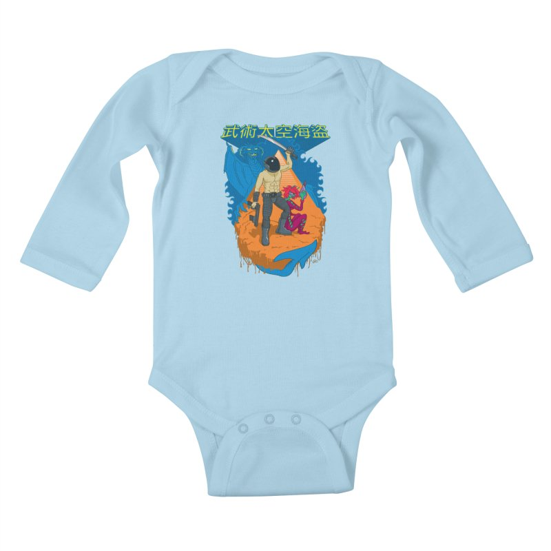 Wushu Space Pirates™ Kids Baby Longsleeve Bodysuit by Trulyfunky Shop @ Threadless!