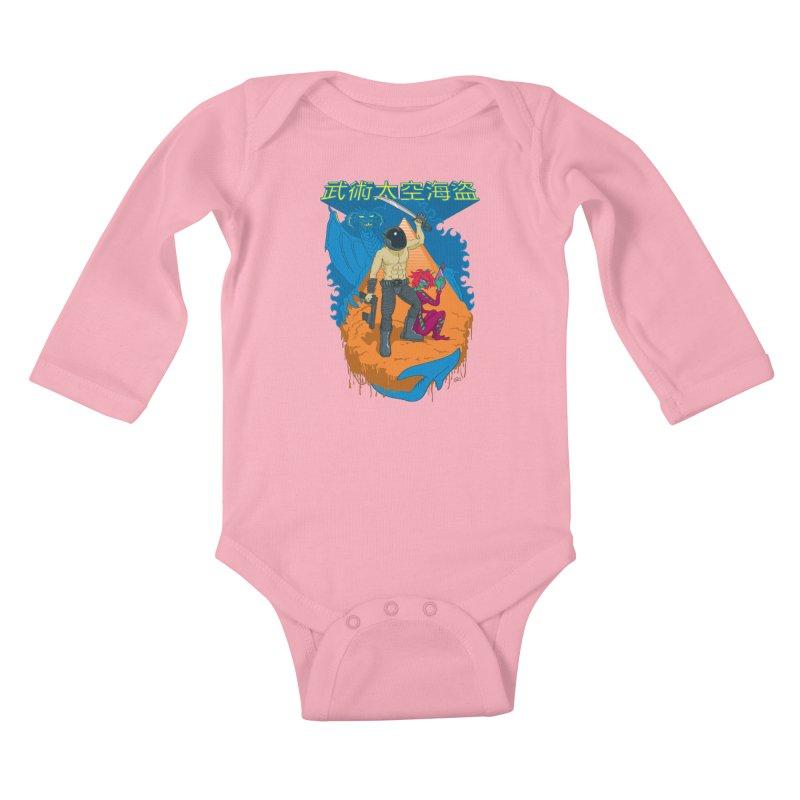 Wushu Space Pirates™ Kids Baby Longsleeve Bodysuit by Trulyfunky Shop @ Threadless!