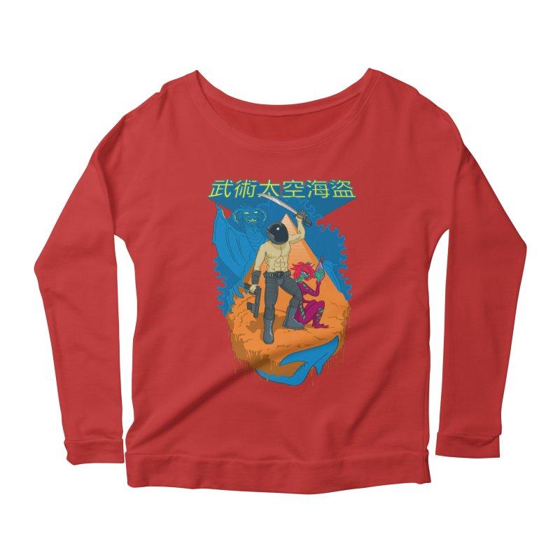 Wushu Space Pirates™ Women's Longsleeve Scoopneck  by Trulyfunky Shop @ Threadless!