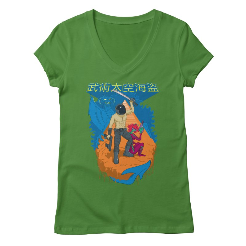 Wushu Space Pirates™ Women's V-Neck by Trulyfunky Shop @ Threadless!