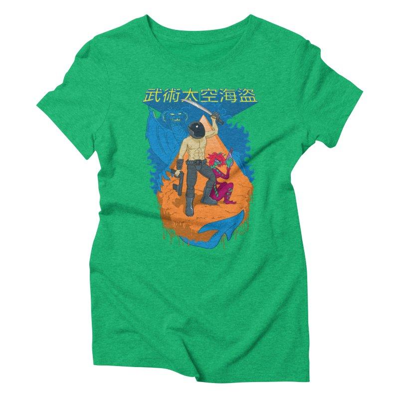 Wushu Space Pirates™ Women's Triblend T-Shirt by Trulyfunky Shop @ Threadless!