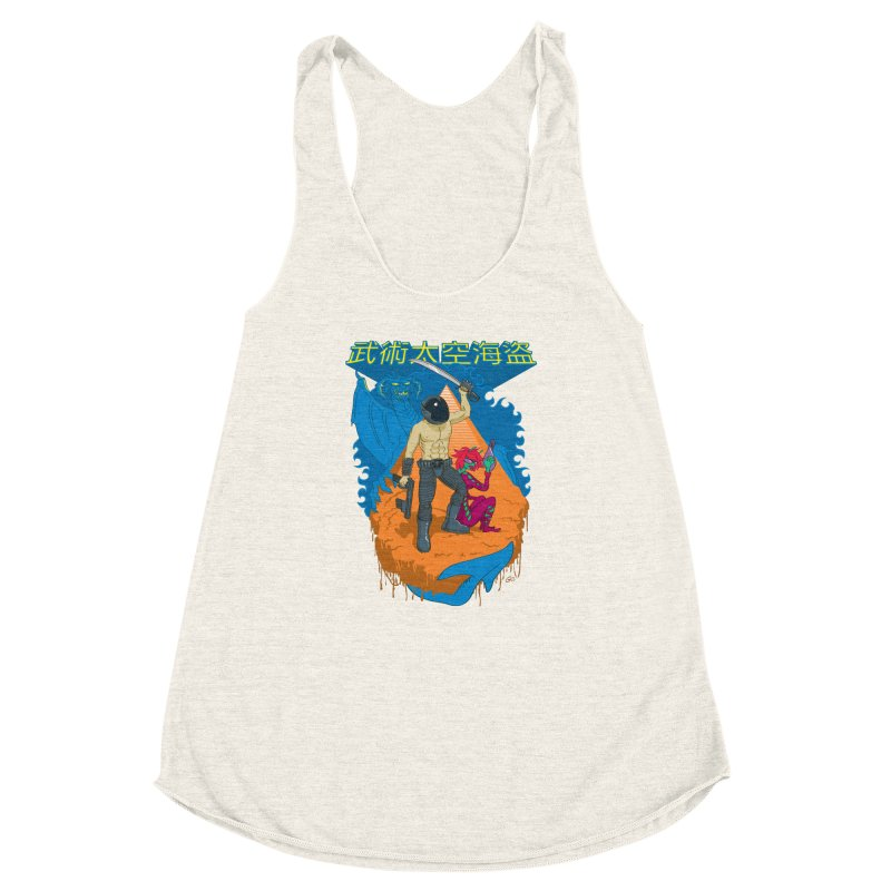 Wushu Space Pirates™ Women's Racerback Triblend Tank by Trulyfunky Shop @ Threadless!
