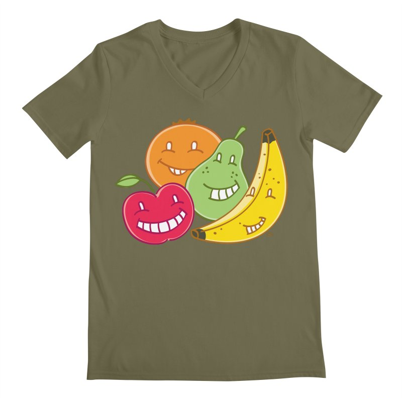 The Fruit Bunch™ Men's V-Neck by Trulyfunky Shop @ Threadless!