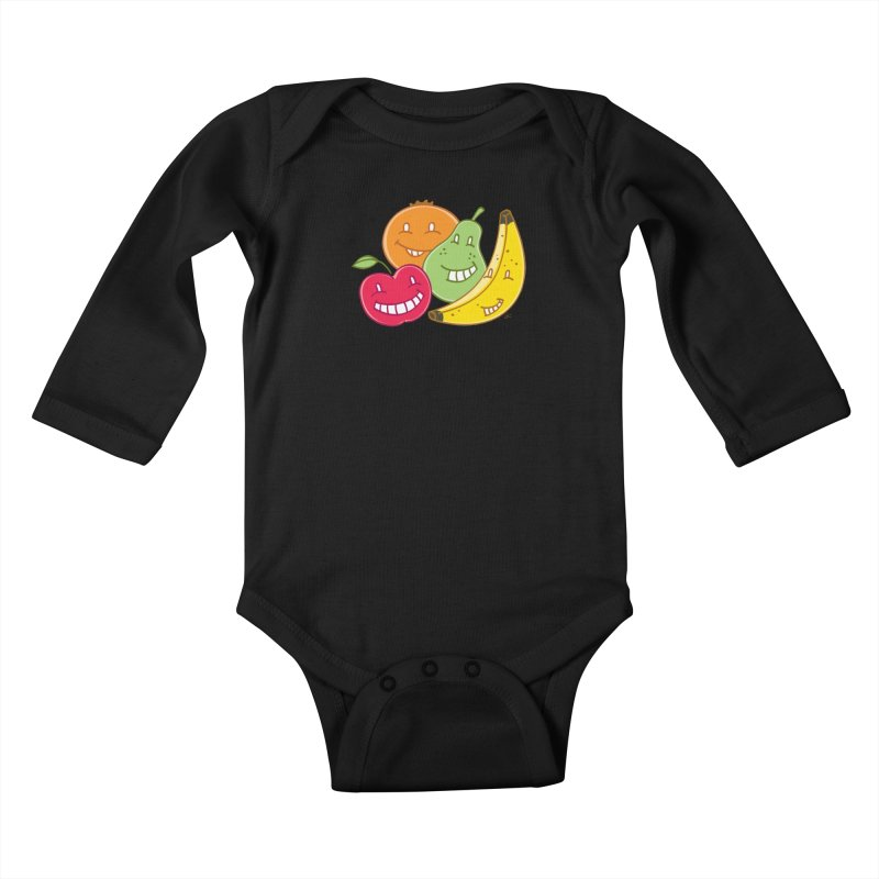 The Fruit Bunch™ Kids Baby Longsleeve Bodysuit by Trulyfunky Shop @ Threadless!