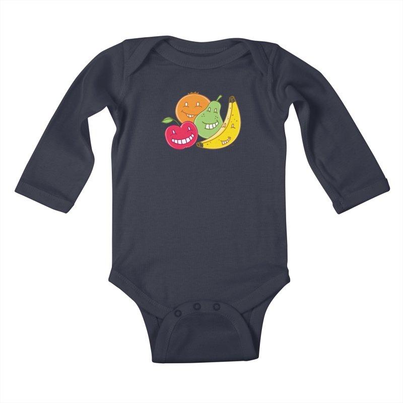 The Fruit Bunch™ Kids Baby Longsleeve Bodysuit by Trulyfunky Shop @ Threadless!