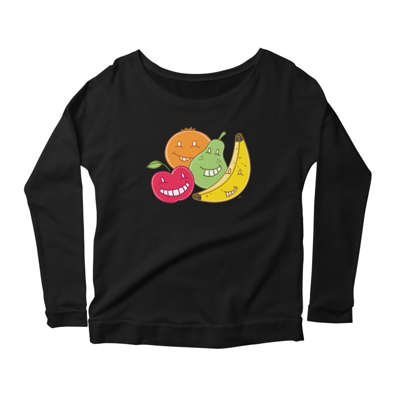 The Fruit Bunch™ Women's Longsleeve Scoopneck  by Trulyfunky Shop @ Threadless!
