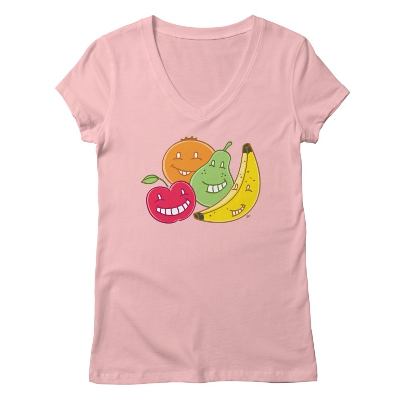 The Fruit Bunch™ Women's V-Neck by Trulyfunky Shop @ Threadless!