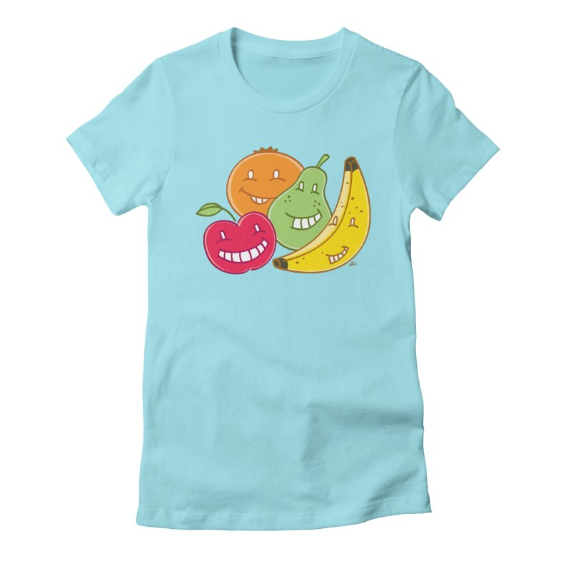 The Fruit Bunch™ Women's Fitted T-Shirt by Trulyfunky Shop @ Threadless!