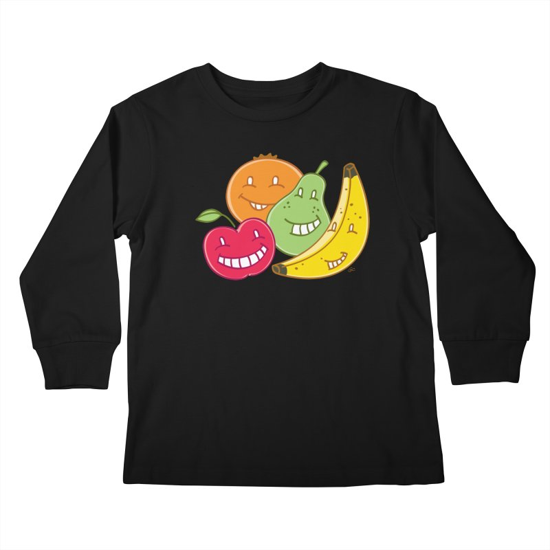 The Fruit Bunch™ Kids Longsleeve T-Shirt by Trulyfunky Shop @ Threadless!