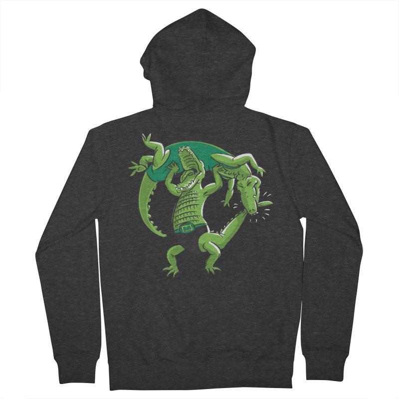 Alligator Wrestling Women's Zip-Up Hoody by Trulyfunky Shop @ Threadless!