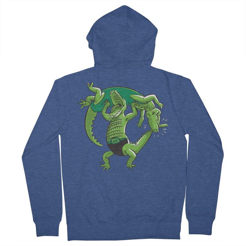 Alligator Wrestling Men's Zip-Up Hoody by Trulyfunky Shop @ Threadless!