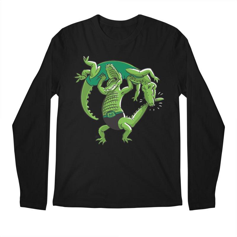 Alligator Wrestling Men's Longsleeve T-Shirt by Trulyfunky Shop @ Threadless!