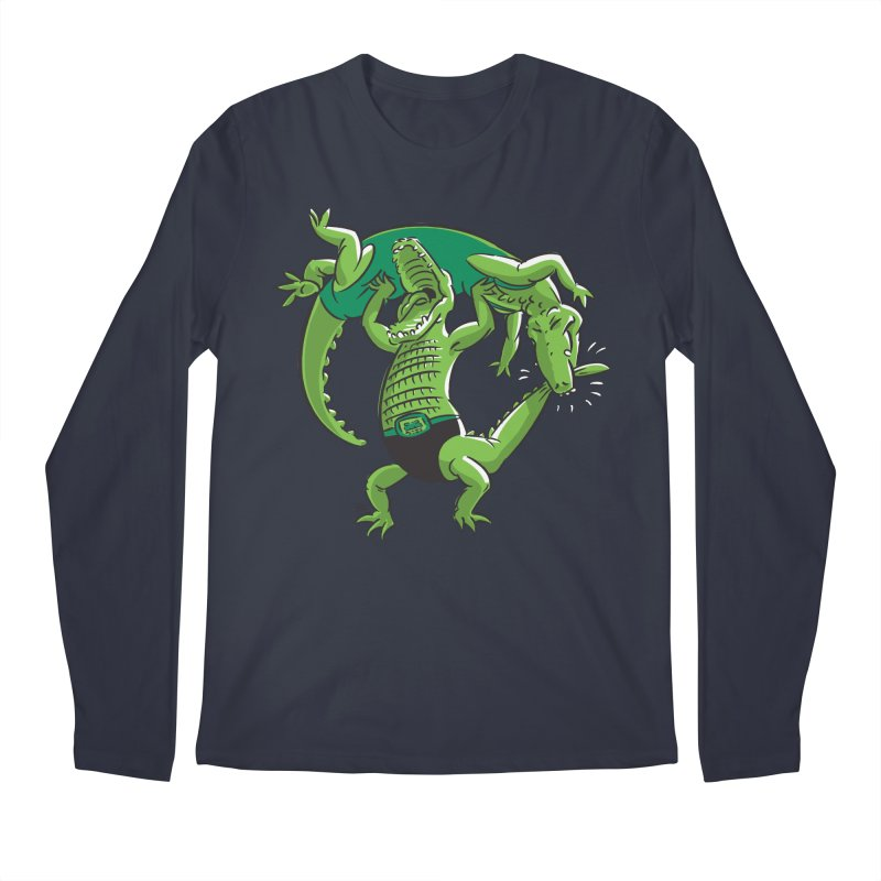 Alligator Wrestling Men's Longsleeve T-Shirt by Trulyfunky Shop @ Threadless!