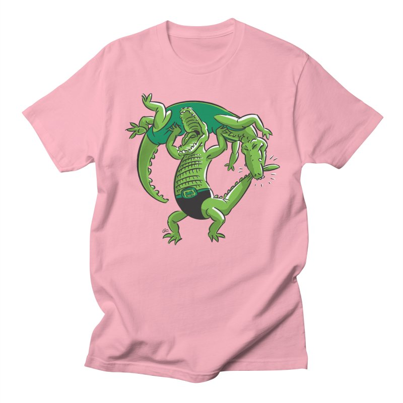 Alligator Wrestling Men's T-shirt by Trulyfunky Shop @ Threadless!