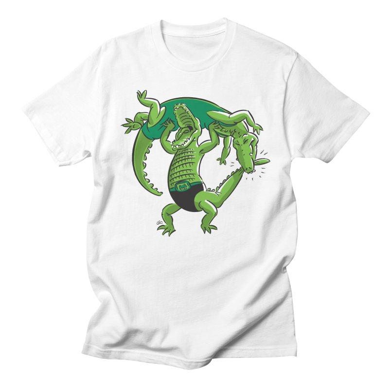 Alligator Wrestling Men's T-Shirt by Trulyfunky Shop @ Threadless!