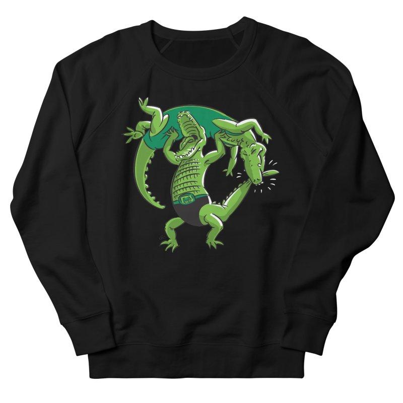 Alligator Wrestling Women's Sweatshirt by Trulyfunky Shop @ Threadless!