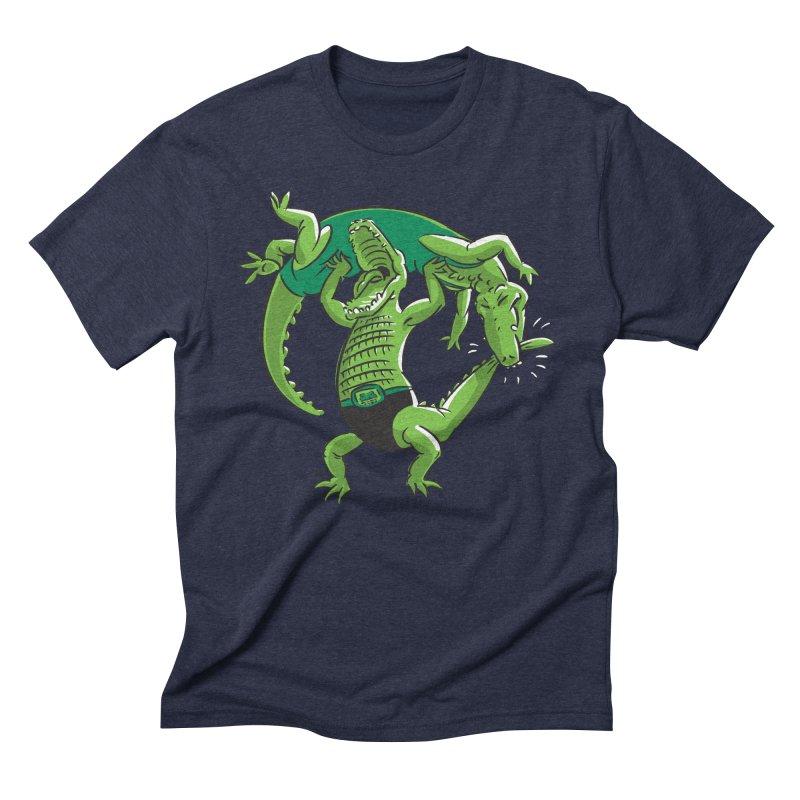 Alligator Wrestling Men's Triblend T-Shirt by Trulyfunky Shop @ Threadless!