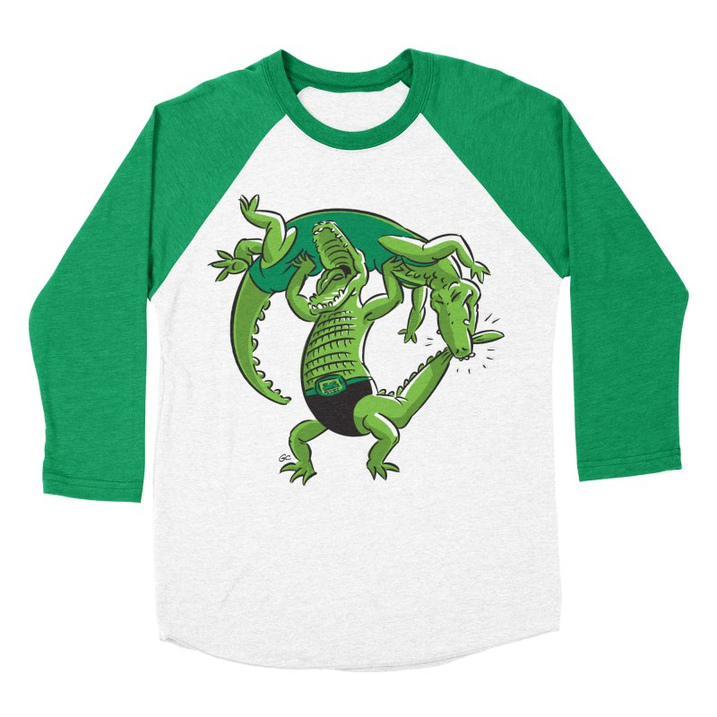 Alligator Wrestling Women's Baseball Triblend T-Shirt by Trulyfunky Shop @ Threadless!