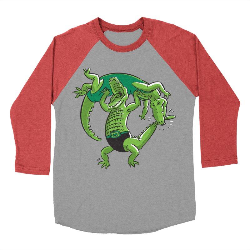Alligator Wrestling Men's Baseball Triblend T-Shirt by Trulyfunky Shop @ Threadless!