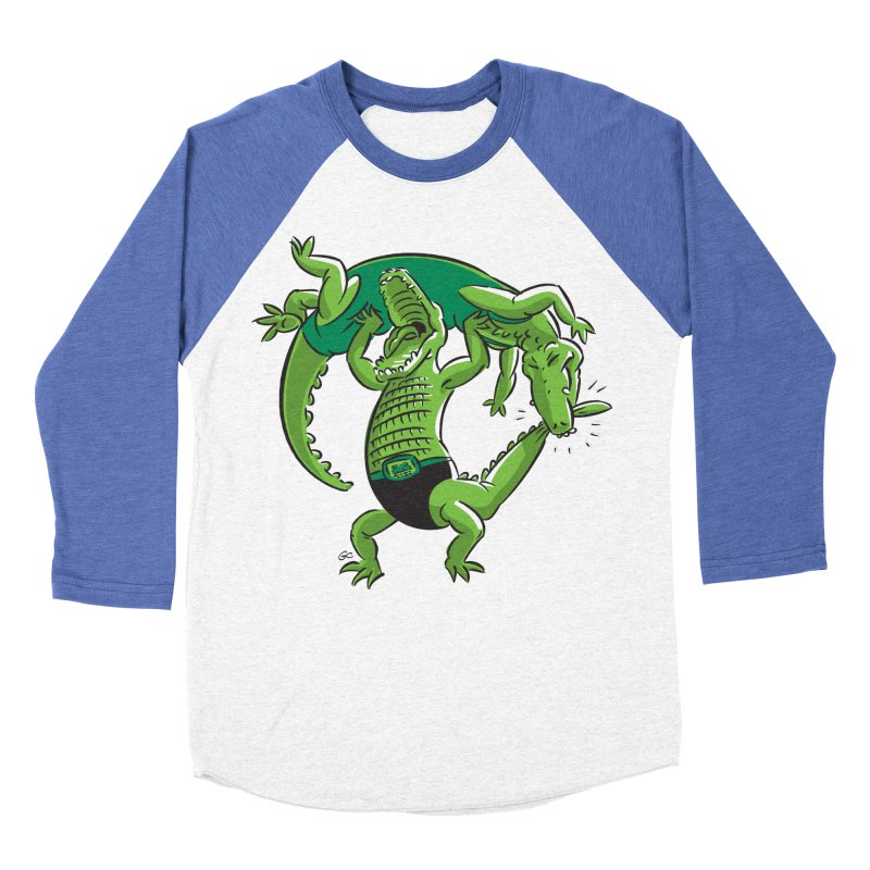 Alligator Wrestling Men's Baseball Triblend T-Shirt by Trulyfunky Shop @ Threadless!