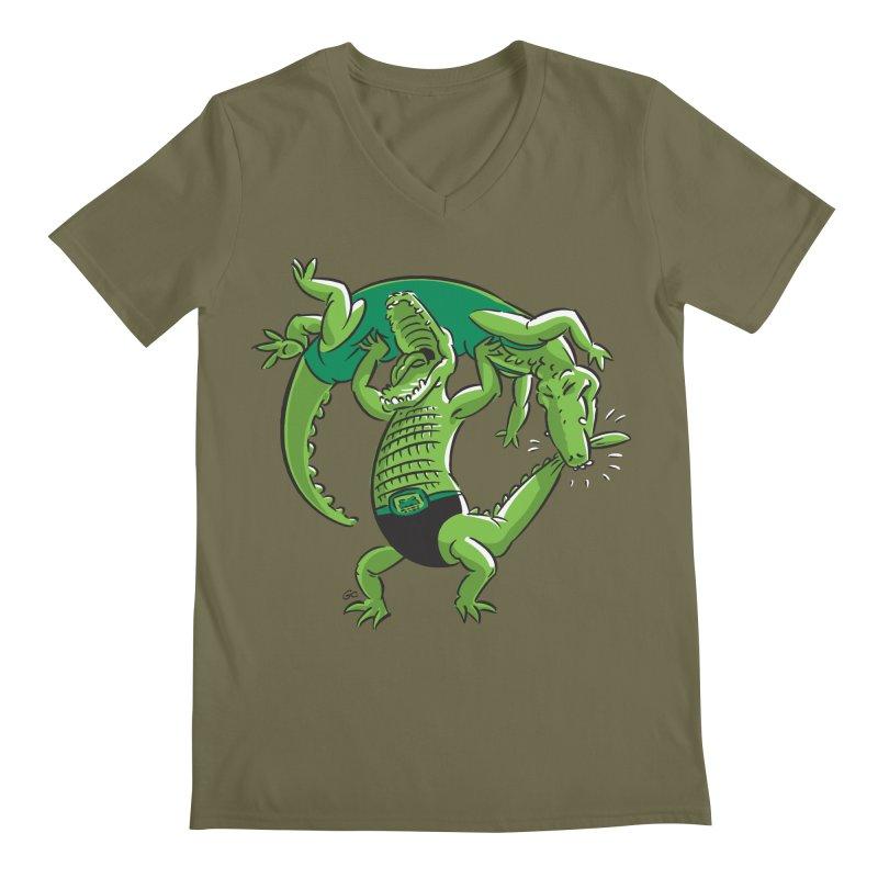 Alligator Wrestling Men's V-Neck by Trulyfunky Shop @ Threadless!