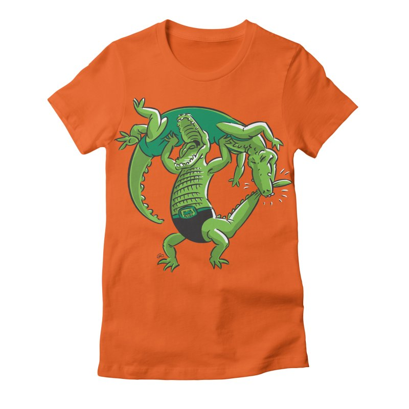 Alligator Wrestling Women's Fitted T-Shirt by Trulyfunky Shop @ Threadless!