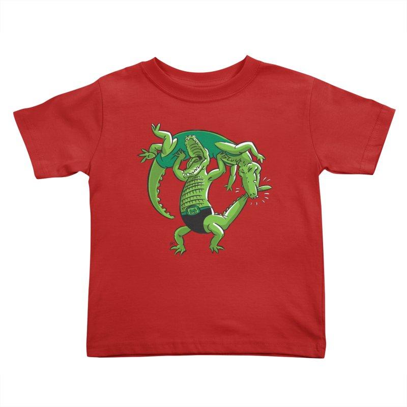 Alligator Wrestling Kids Toddler T-Shirt by Trulyfunky Shop @ Threadless!
