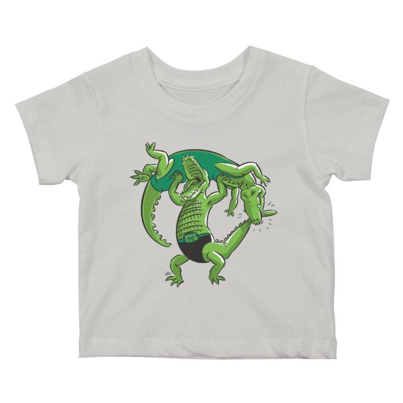 Alligator Wrestling Kids Baby T-Shirt by Trulyfunky Shop @ Threadless!