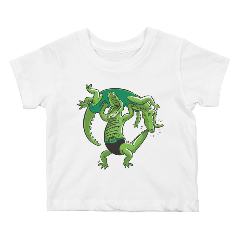 Alligator Wrestling Kids Baby T-Shirt by Trulyfunky Shop @ Threadless!