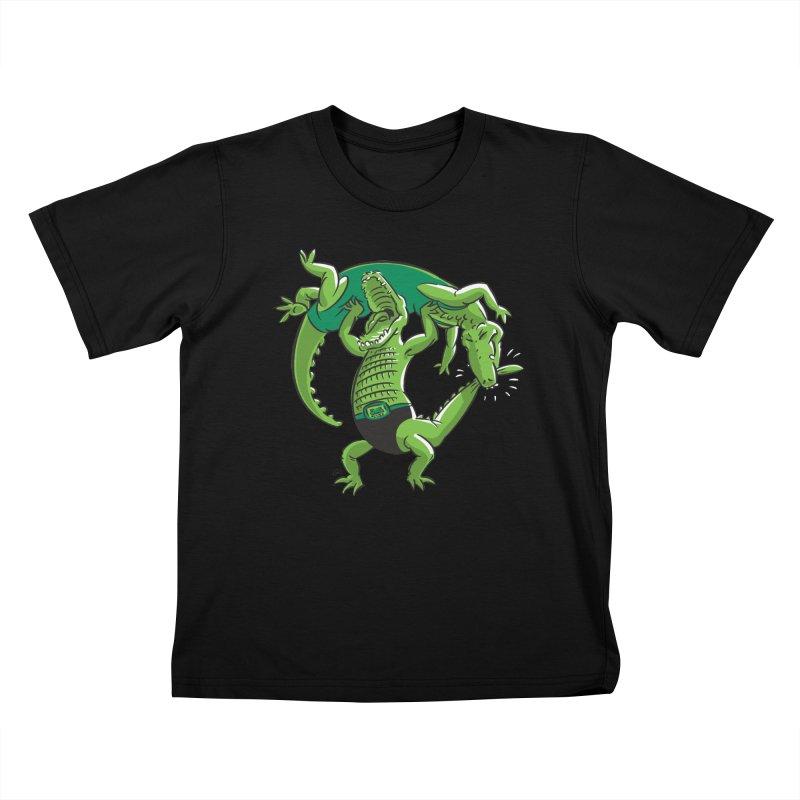 Alligator Wrestling Kids T-Shirt by Trulyfunky Shop @ Threadless!