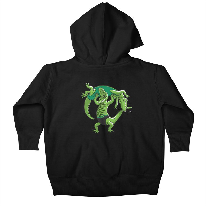 Alligator Wrestling Kids Baby Zip-Up Hoody by Trulyfunky Shop @ Threadless!