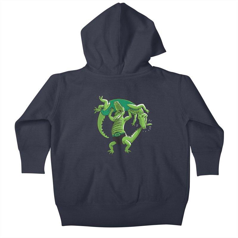Alligator Wrestling Kids Baby Zip-Up Hoody by Trulyfunky Shop @ Threadless!