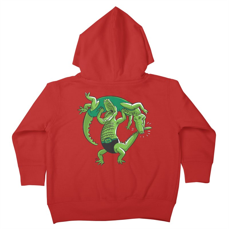 Alligator Wrestling Kids Toddler Zip-Up Hoody by Trulyfunky Shop @ Threadless!