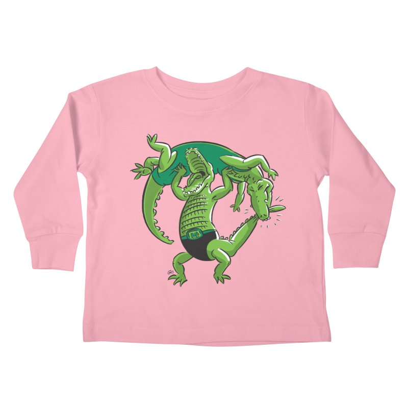 Alligator Wrestling Kids Toddler Longsleeve T-Shirt by Trulyfunky Shop @ Threadless!