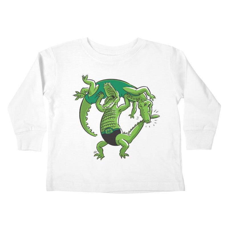 Alligator Wrestling Kids Toddler Longsleeve T-Shirt by Trulyfunky Shop @ Threadless!