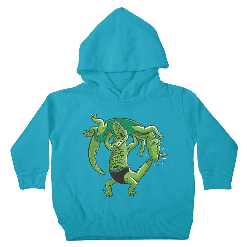 Alligator Wrestling Kids Toddler Pullover Hoody by Trulyfunky Shop @ Threadless!