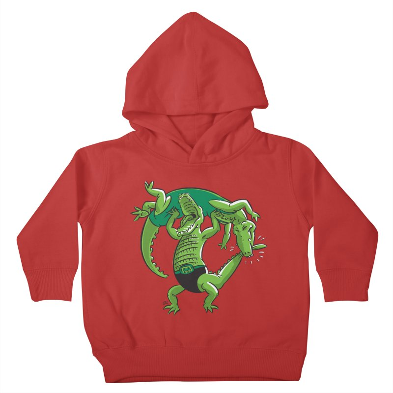 Alligator Wrestling Kids Toddler Pullover Hoody by Trulyfunky Shop @ Threadless!