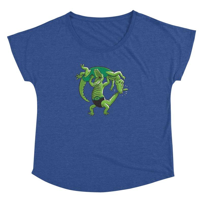 Alligator Wrestling Women's Dolman by Trulyfunky Shop @ Threadless!