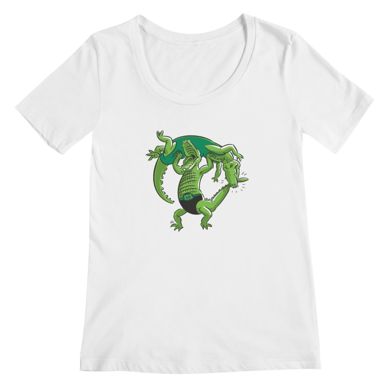 Alligator Wrestling Women's Scoopneck by Trulyfunky Shop @ Threadless!