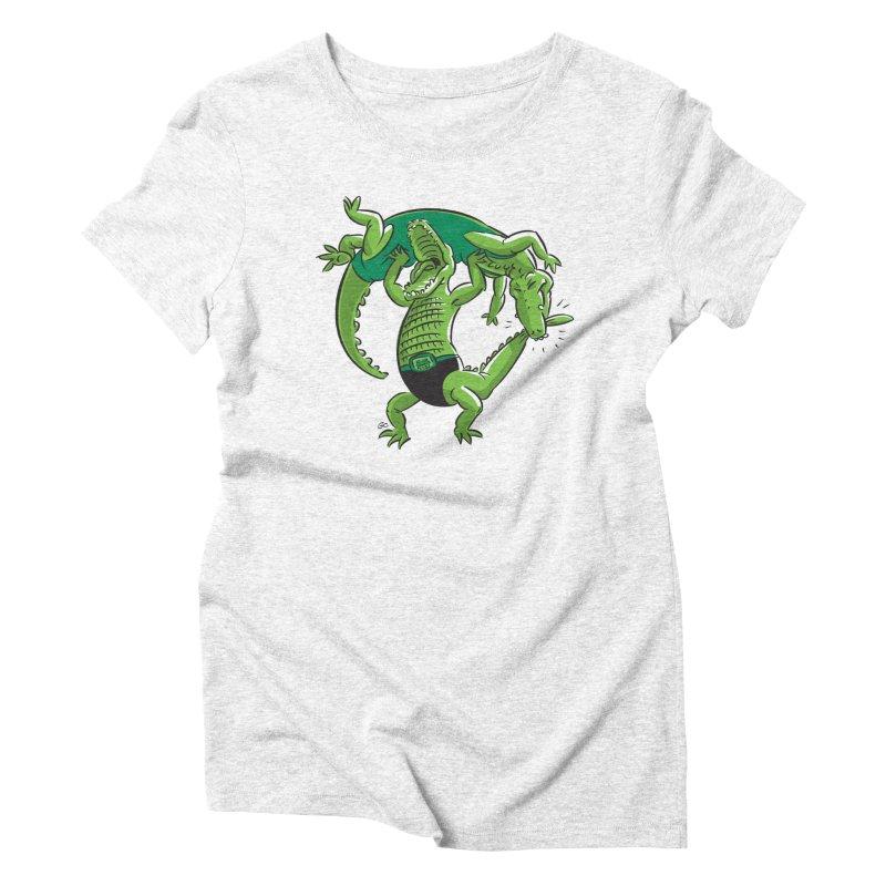 Alligator Wrestling Women's Triblend T-shirt by Trulyfunky Shop @ Threadless!