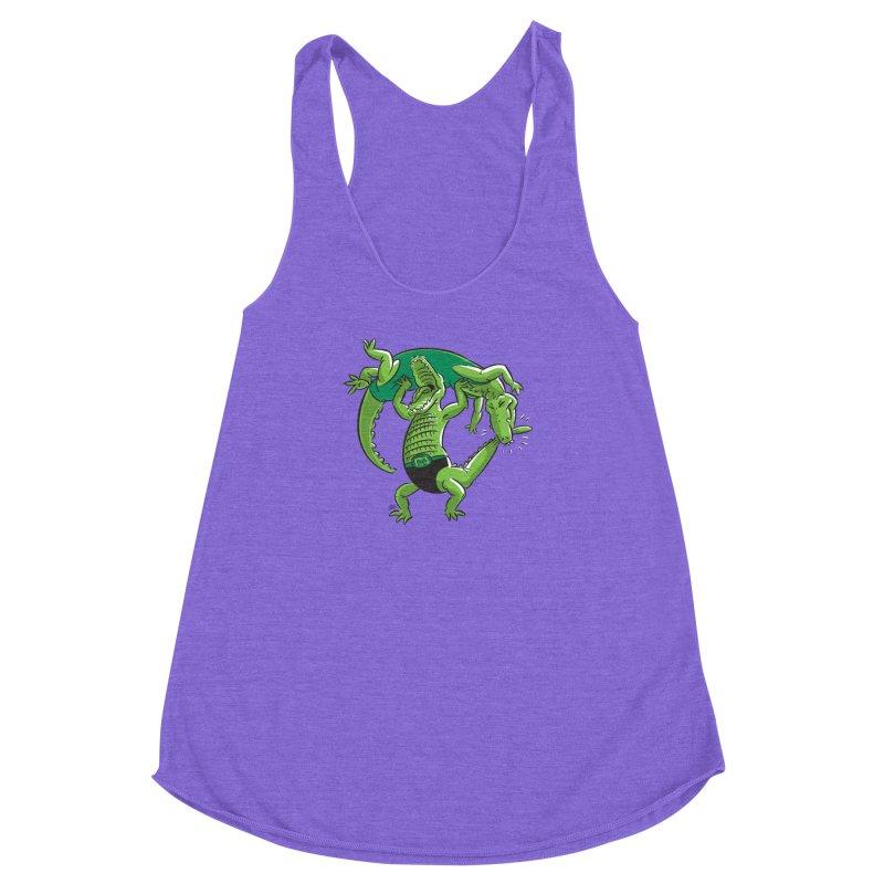 Alligator Wrestling Women's Racerback Triblend Tank by Trulyfunky Shop @ Threadless!
