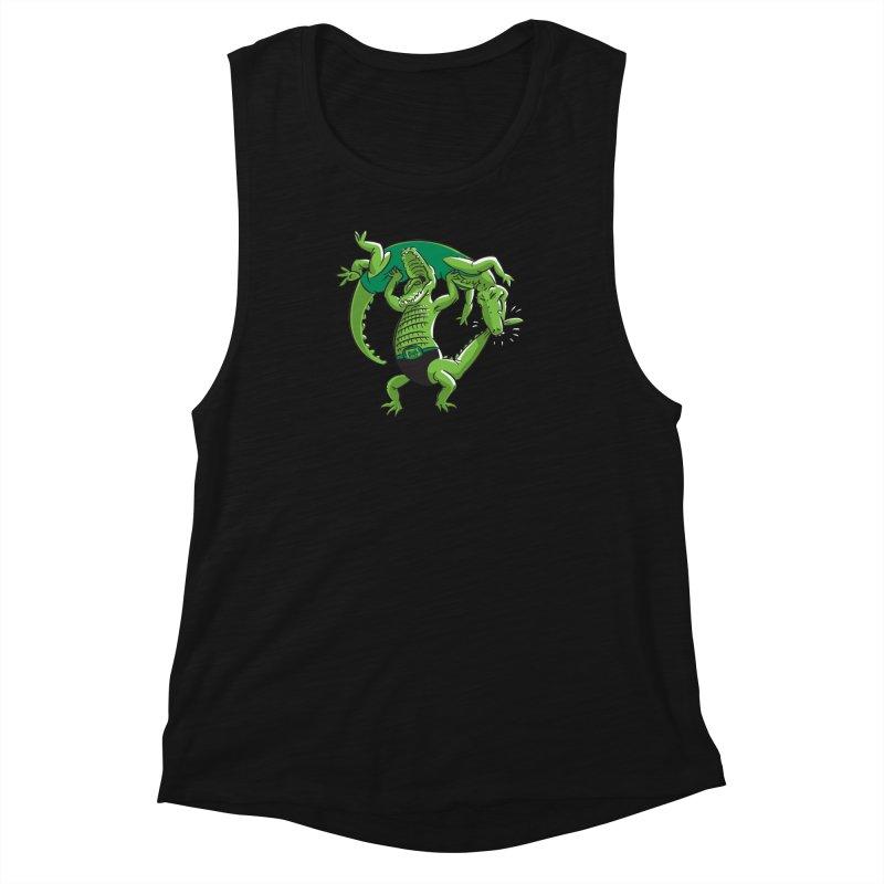 Alligator Wrestling Women's Muscle Tank by Trulyfunky Shop @ Threadless!